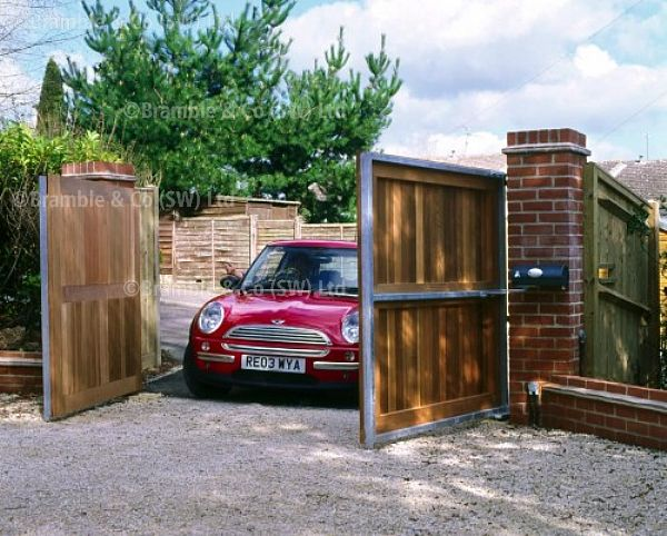 Electric Gates,Wood with Metal Frame,Somerset